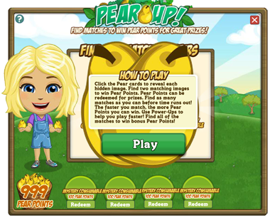 FarmVille Pear Up Notice