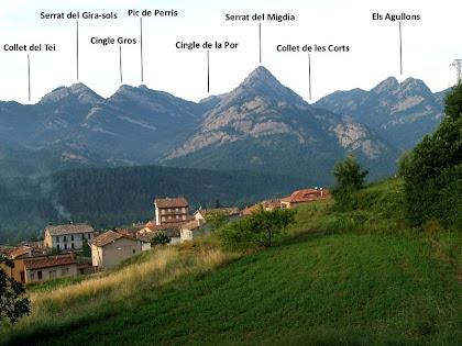La Serra de Picancel amb Vilada als nostres peus