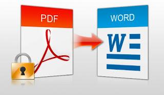 Cara Mudah Mengubah PDF yang tidak Terproteksi ke Word  Secara Online