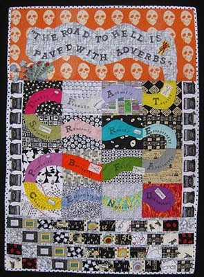 Gefilte Quilt: Rubber-Stamped Adverb Quilt for Better Blogging : patchwork quilt chords - Adamdwight.com