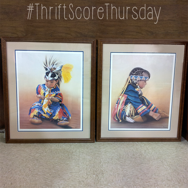 #thriftscorethursday Week 61 Tribal Princess Painting | www.blackandwhiteobsession.com