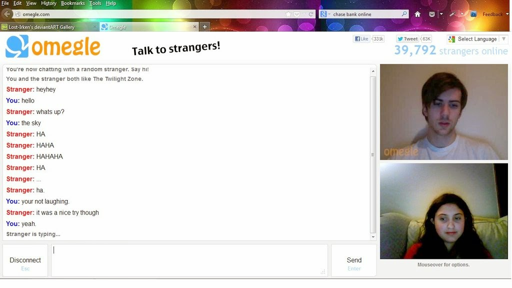 unmoderated omegle section