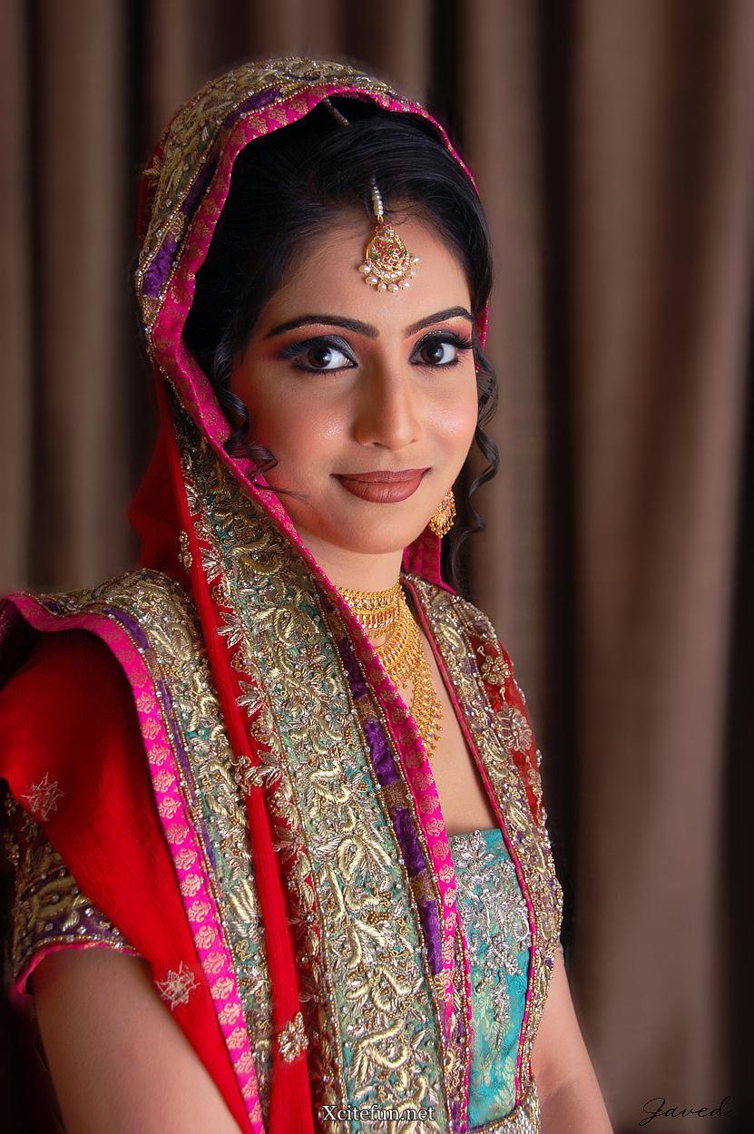 Cherish Colored Bridal Dress Asian Makeup With Arabic Mehndi