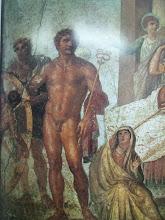 El suplicio de Ixión, casa de los Vetti, Pompeya. Pintura mural c. 63- 79