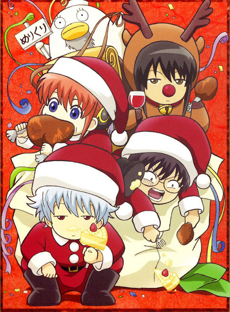 Gintama Chibi Christmas Wallpaper 0001