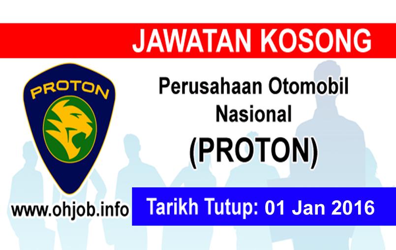 Jawatan Kerja Kosong Proton Edar Sdn Bhd logo www.ohjob.info januari 2016