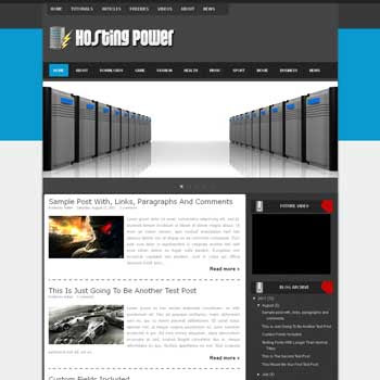 Hosting Power blogger template. download android news template for blogger. download seo blogger template
