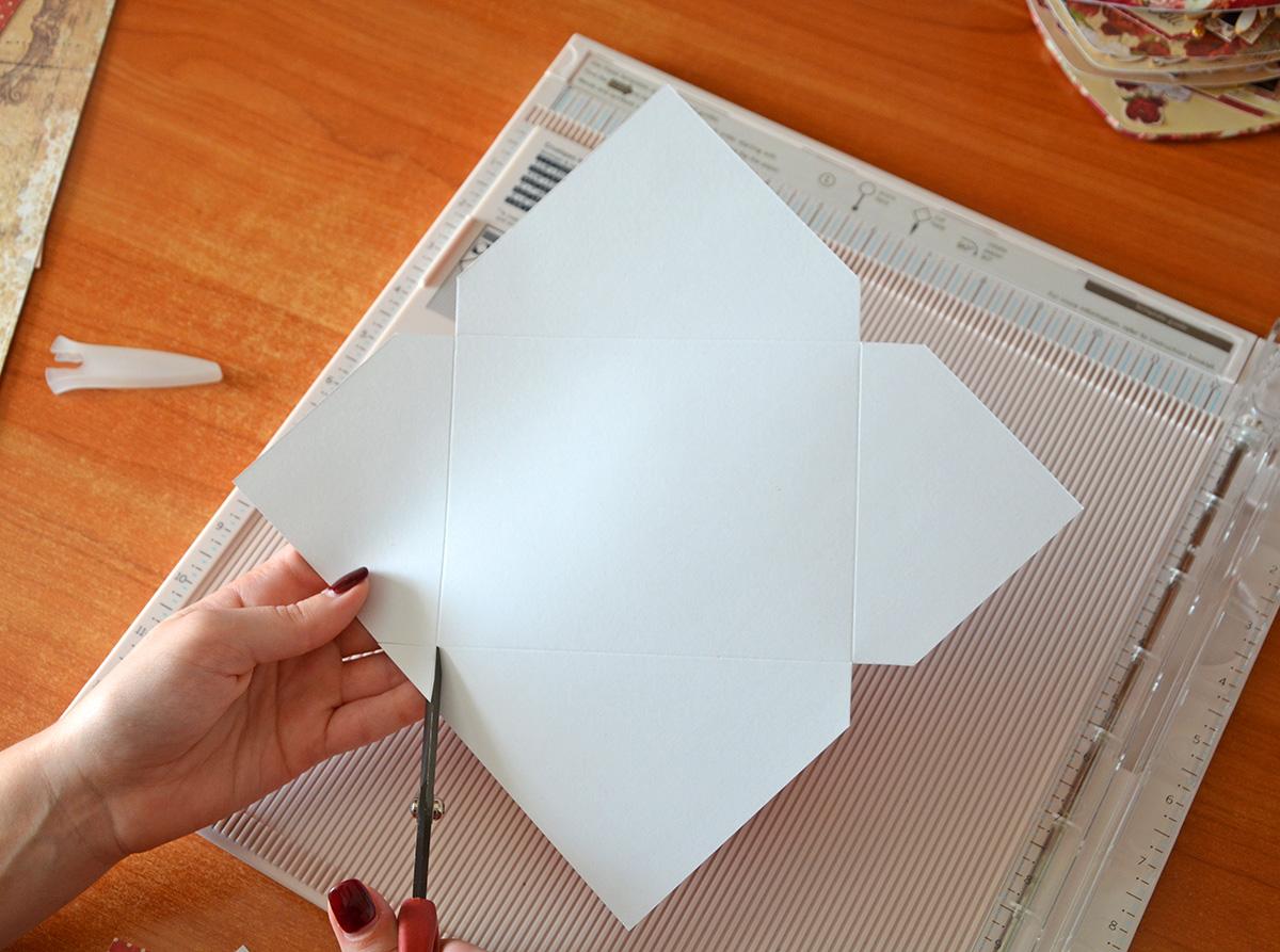 Как сделать конверт из прямоугольного к 500