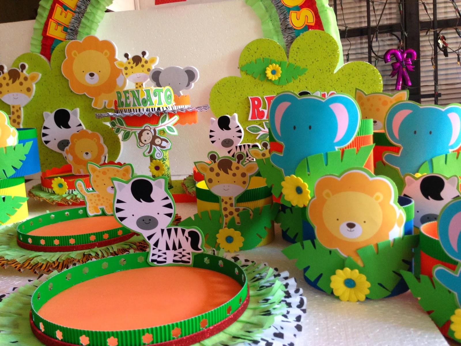 Decoraciones infantiles animalitos de la selva - Decoracion cumpleanos infantiles manualidades ...