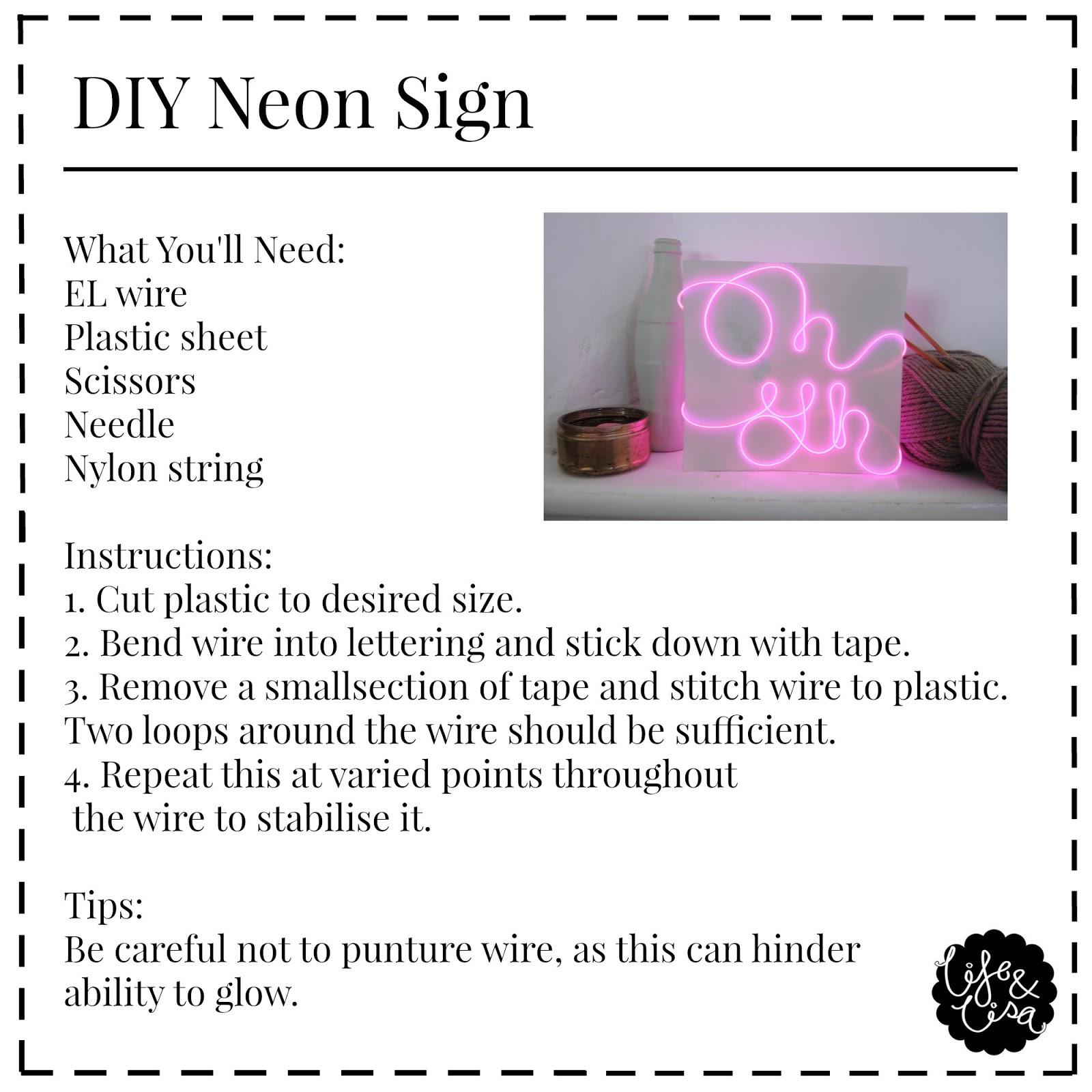 Life lisa diy neon sign monday 1 june 2015 solutioingenieria Choice Image