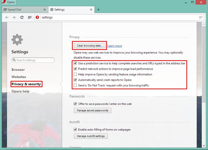 Cara Membersihkan Cookie Opera Browser