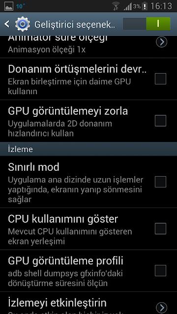 Galaxy S3 Kırmızı Çerçeve Sorunu