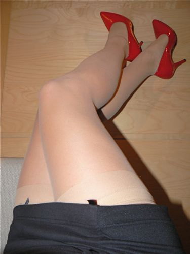 Red High Heels and long legs