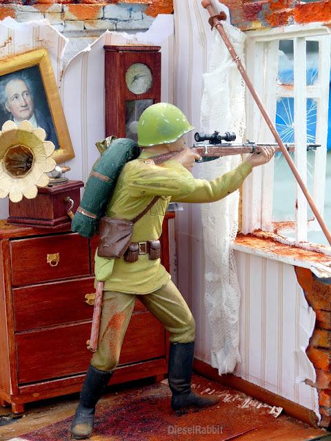Военно-историческая миниатюра, посвящённая старшине Суркову Михаилу Ильичу.