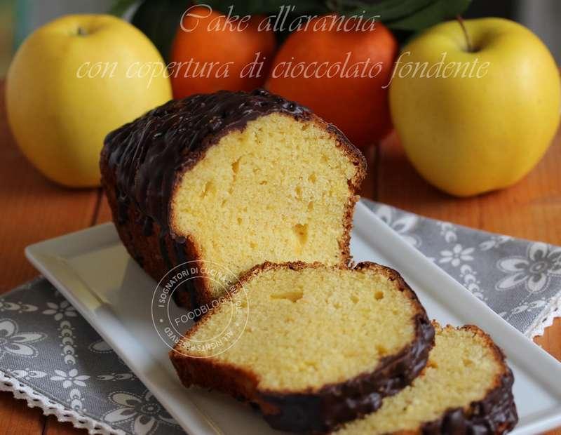 CAKE ALL'ARANCIA CON COLATA DI CIOCCOLATO FONDENTE