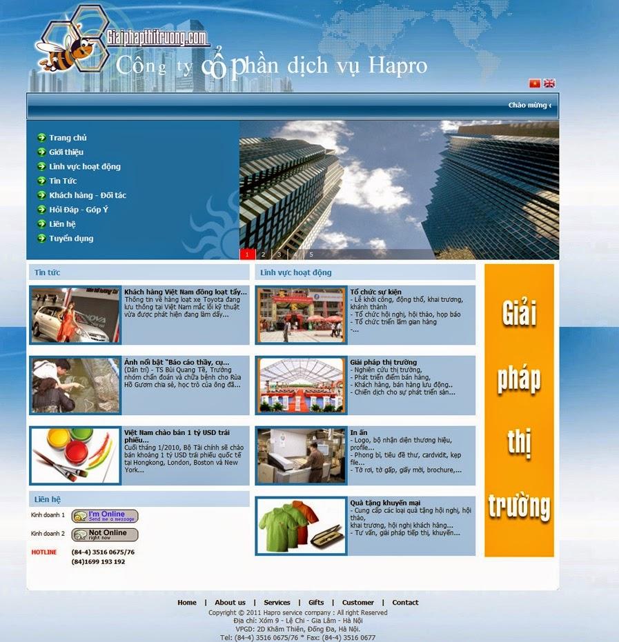 thiết kế web doanh nghiệp đẹp