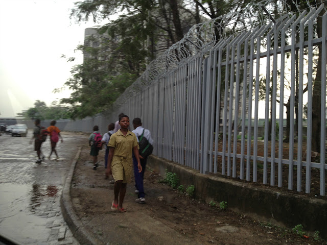 Students going to school in Lagos, Nigeria