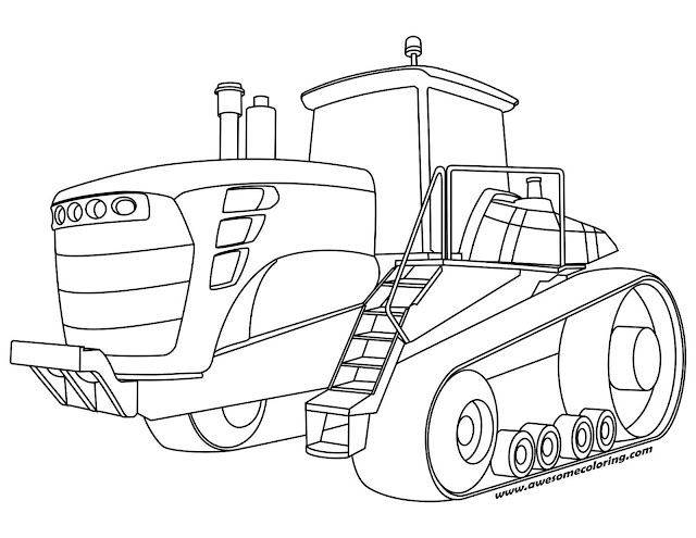 Tractor Coloring Page Free Printable Tractor Coloring