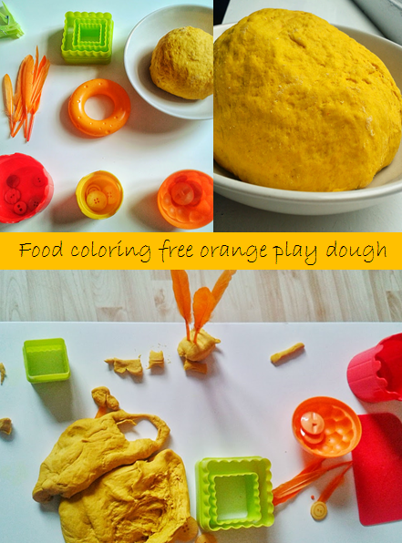 Welcome to Mommyhood: homemade play dough - a fun orange play dough that is perfect for Easter