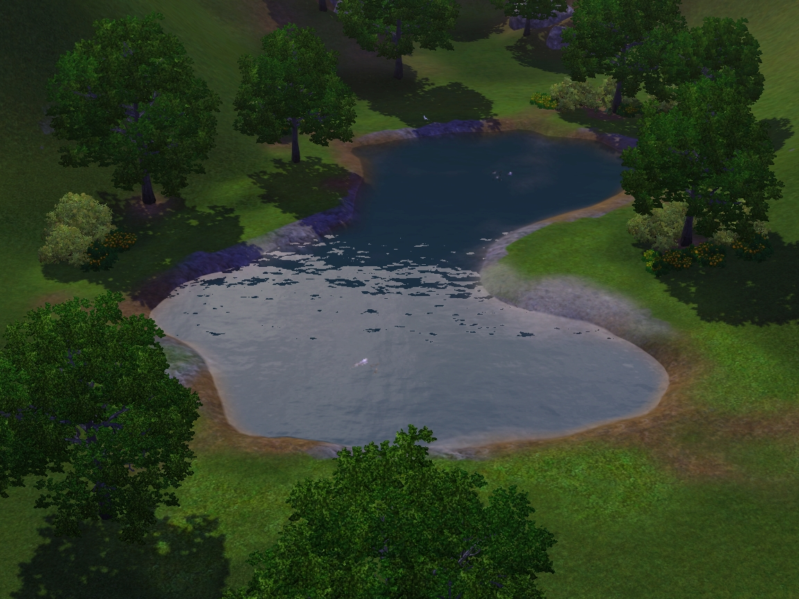 Summer 39 s little sims 3 garden sunset valley the sims 3 for Small pond base