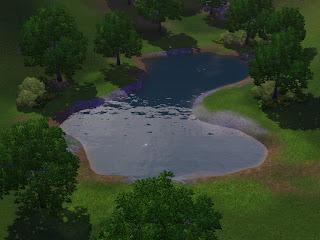 Summer 39 s little sims 3 garden sunset valley list of for Small pond base