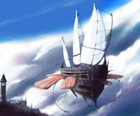 sky ship UFO Jangkar