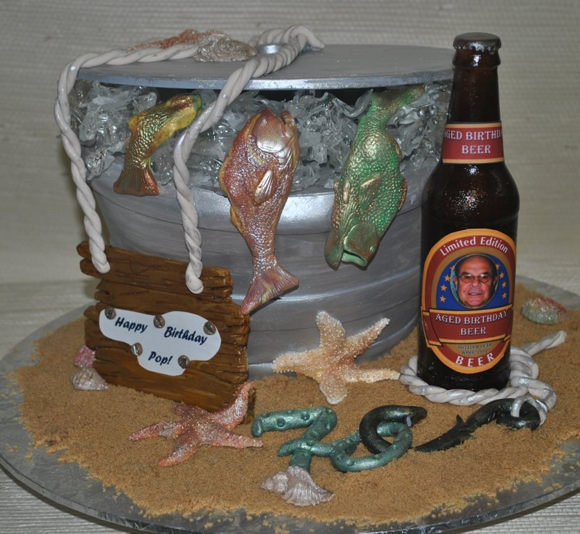 "70th Birthday Cake...""Beer Bottle"" is made"