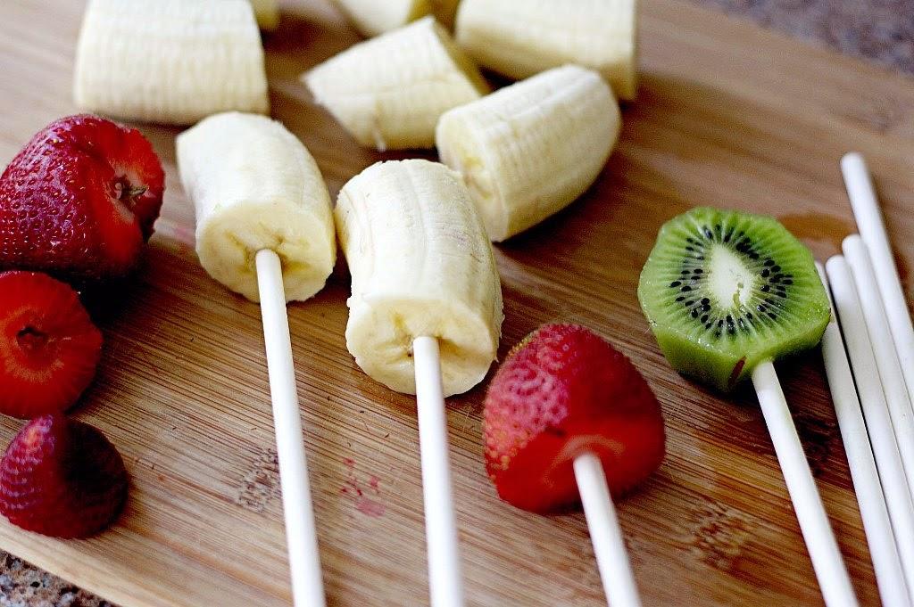 Frutas para cascada de chocolate