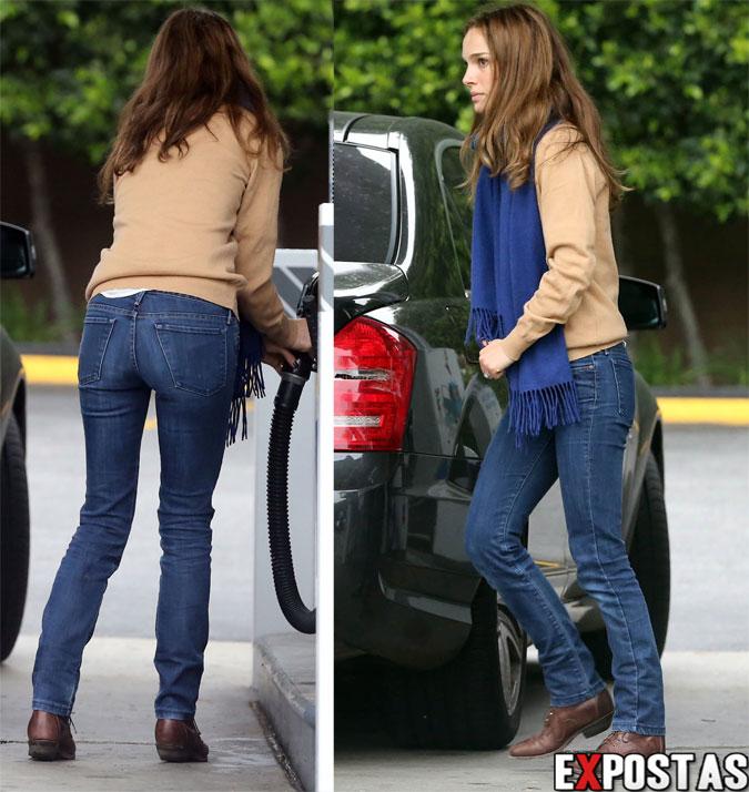 Natalie Portman em um posto de gasolina em Los Feliz - 05 de Fevereiro de 2013