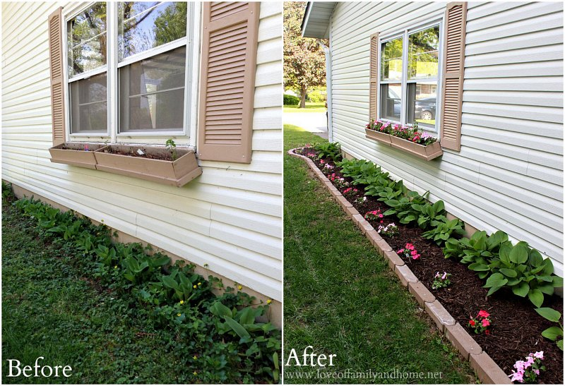 Side Yard Makeover: Creating Curb Appeal - Love of Family & Home