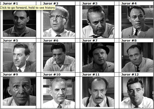 12 angry men jury characters Friday 2/21: characterization project: using the 12 angry men script, read the descriptions of the 12 jury members then use the internet to find pictures of actors, characters, athletes.
