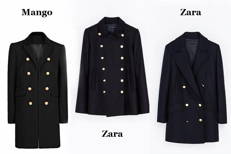 płaszcz z guzikami Zara