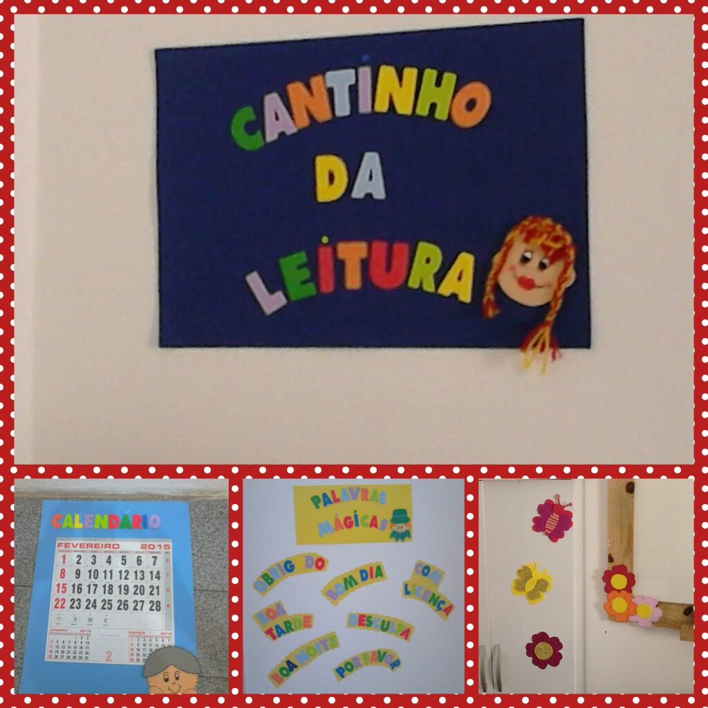 Sala De Educao Infantil Decorada Esses Painis So Para Decorar A  -> Cortinas Decoradas Para Sala De Aula