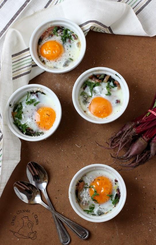 jajka zapiekane z serem