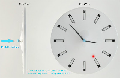 Image of clock button being pushed and light illuminating