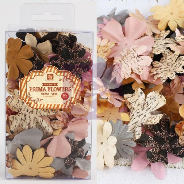 бумажные цветы, плоские