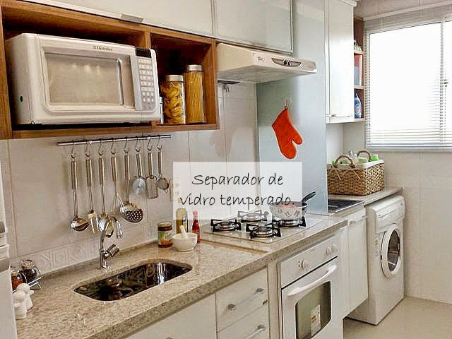 decoracao interiores ambientes pequenos:Alavanderia geralmente vem conjugada com a cozinha, sendo indicado