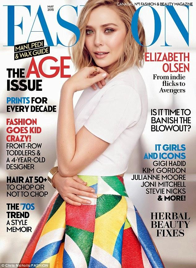 Actress @ Elizabeth Olsen - Fashion Magazine, May 2015
