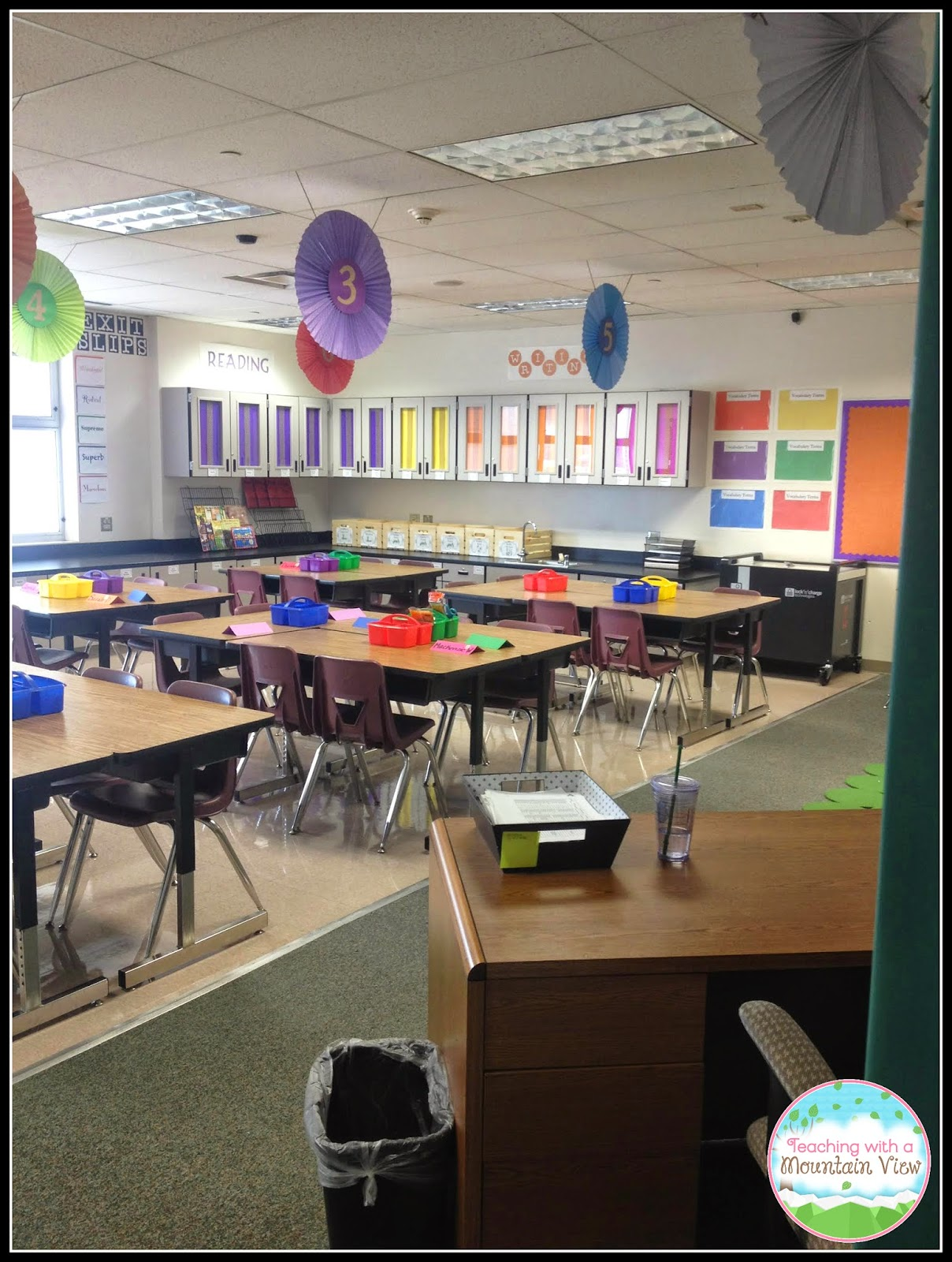 Classroom Management Decor ~ Teaching with a mountain view peek of the week