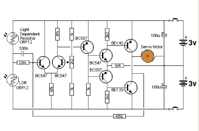 white line follower circuit diagram