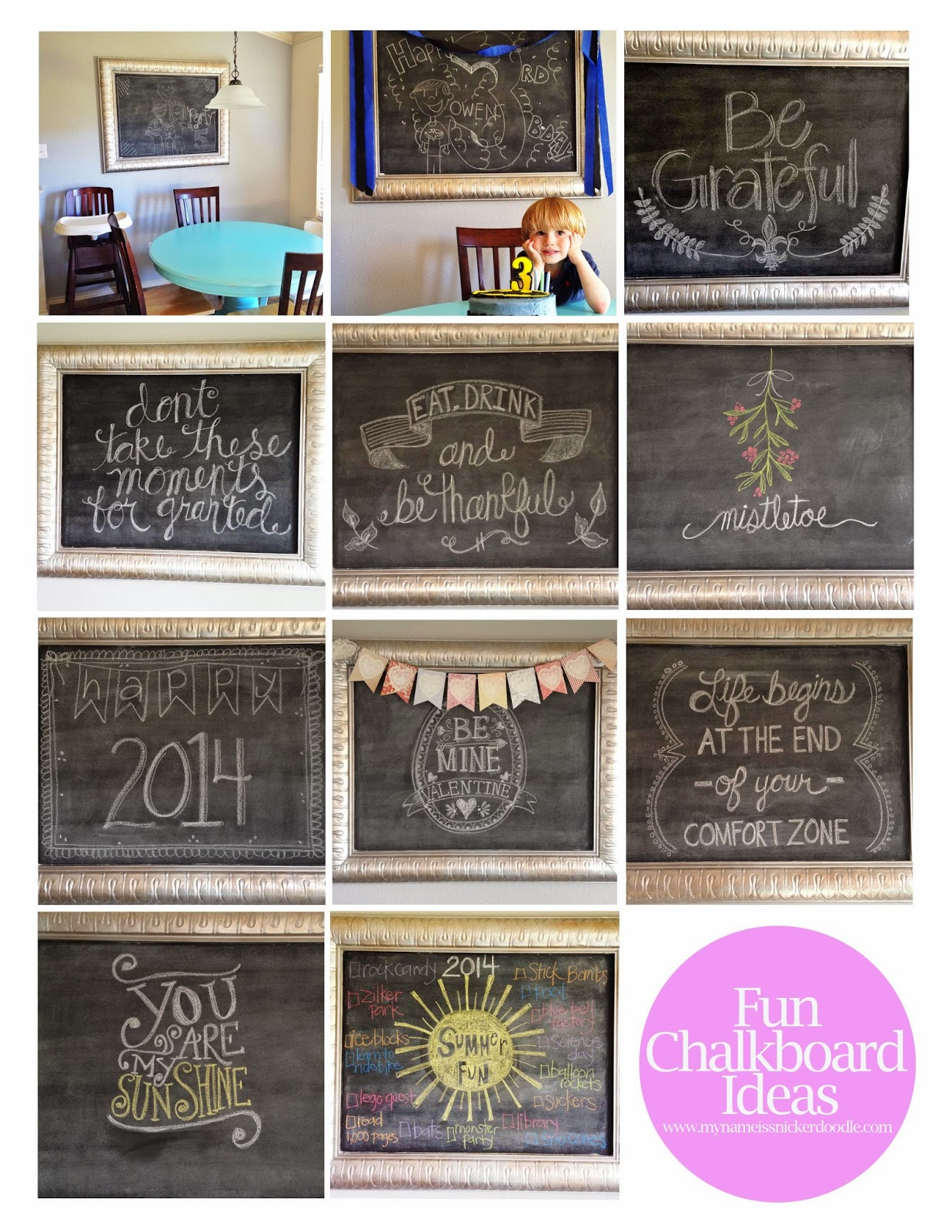 Super fun chalkboard art ideas | My Name Is Snickerdoodle #chalkboard