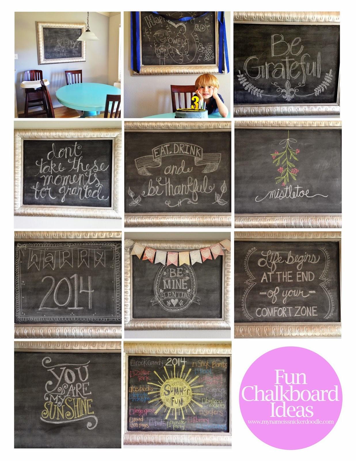 Super fun chalkboard art ideas | My Name Is Snickerdoodle #chalkboard