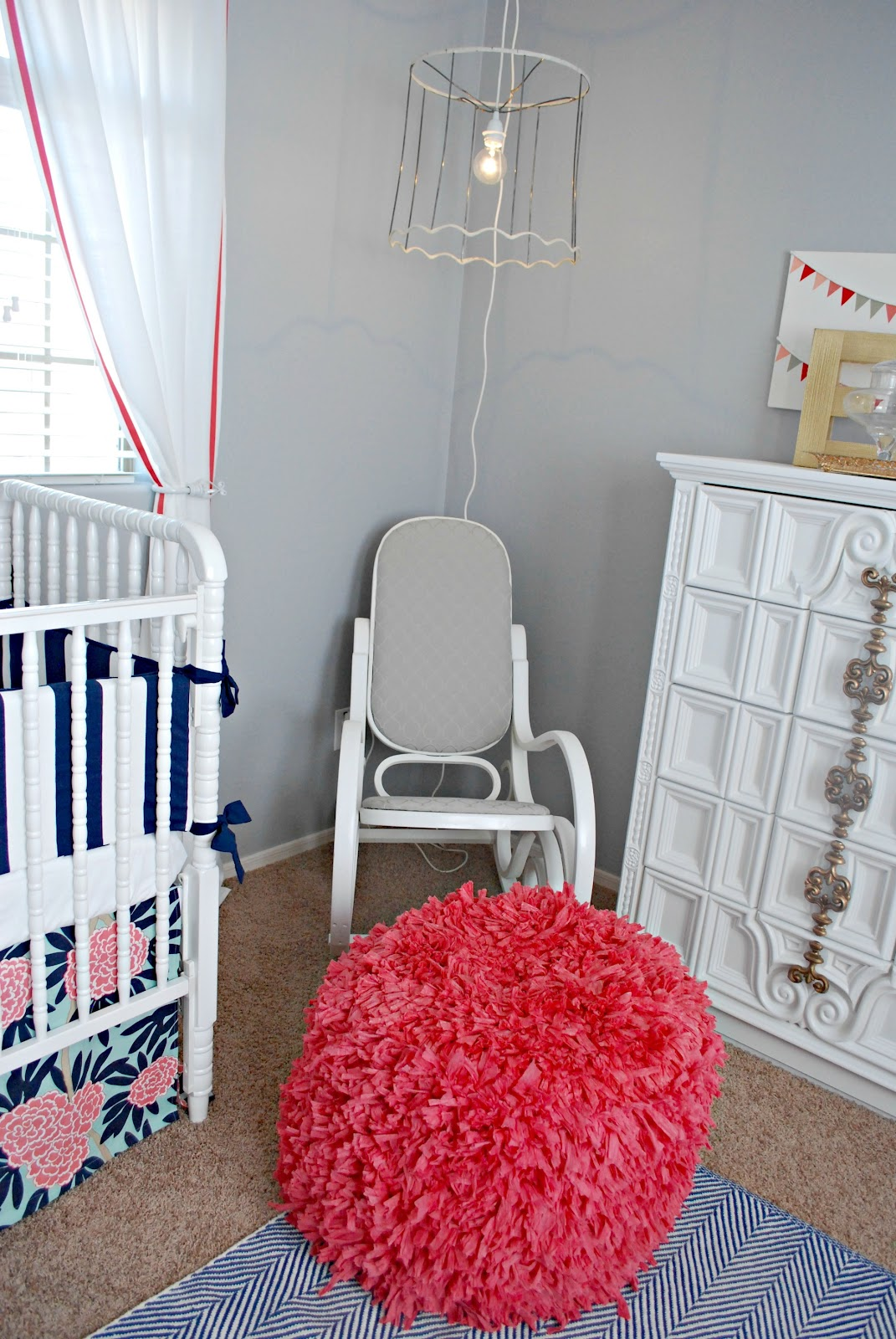 recovering a rocking chair and cute nursery