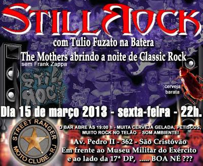 StillRock toca hoje, 15/3 em São Cristóvao, RJ