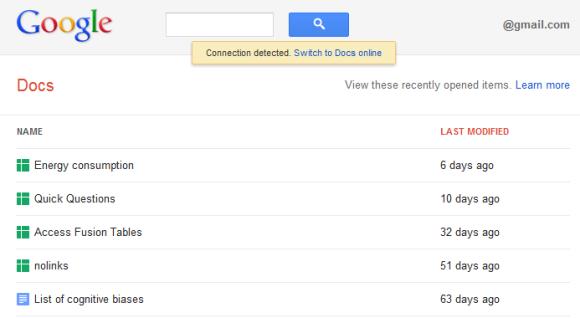 Update For Offline Google Docs - Google documents offline