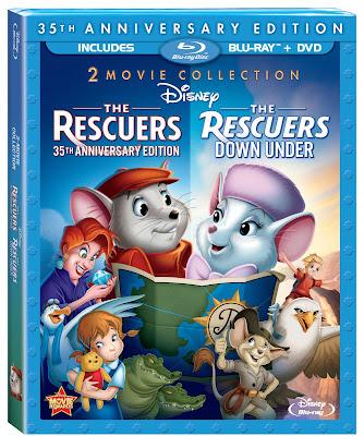 [Blu-Ray Disc] Bernard et Bianca + Bernard et Bianca au pays des kangourous (octobre 2012) Rescuers2Movie35thAnniversaryBluray