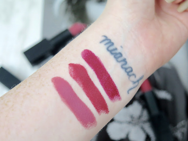 NARS Audacious Lipsticks | Review & Swatches | Stunning Luxury Lipsticks in One Swipe Shades | Anna, Audrey & Charlotte | labellesirene.ca