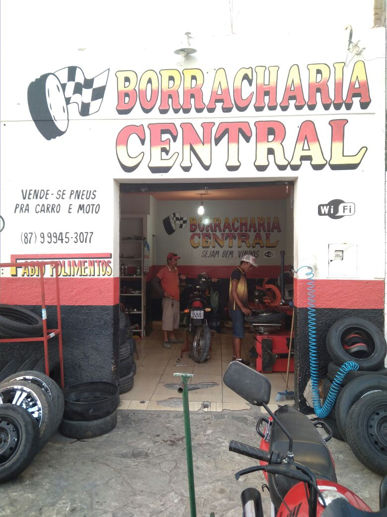 Borracharia Central aberto de segunda a domingo