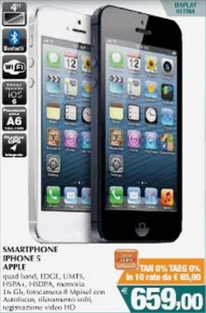Conad-Leclerc scontano e applicano un finanziamento a tasso zero sull'iPhone 5 fino alla prima settimana di settembre 2013