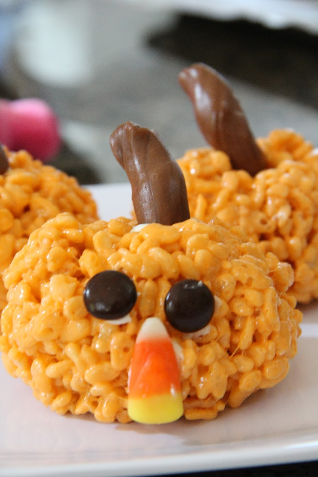 my kids and i had the very best time making little halloween rice krispies treats i found this method off of pinterest of course and it was super